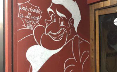 願いを3つ、叶えよう・・・仙台駅近くの『いろは食堂』という飲食店街で見つけたお店の壁